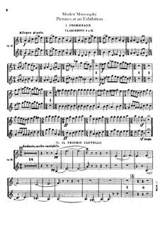 Vollständiger Zyklus: Für Orchester – Klarinettenstimmen by Modest Mussorgski