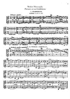 Vollständiger Zyklus: Für Orchester – Hornstimmen by Modest Mussorgski