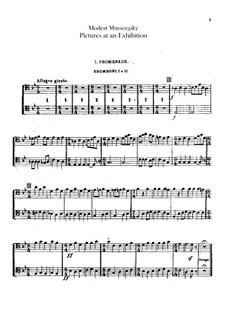 Vollständiger Zyklus: Für Orchester – Tube- und Posaunestimmen by Modest Mussorgski