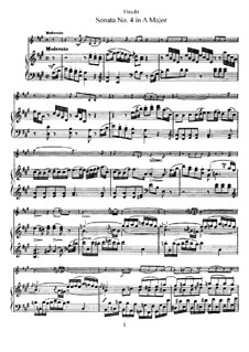 Sonate Nr.4 in A-Dur: Partitur, Solostimme by Joseph Haydn