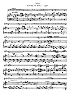 Sonate Nr.5 in G-Dur: Partitur, Solostimme by Joseph Haydn