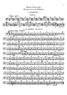 Vollständiger Zyklus: Für Orchester – Schlagzeugstimmen by Modest Mussorgski