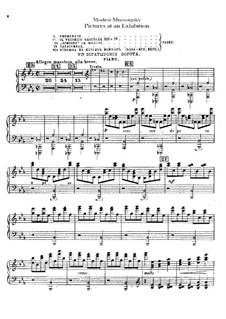 Vollständiger Zyklus: Für Orchester – Klavierstimme by Modest Mussorgski