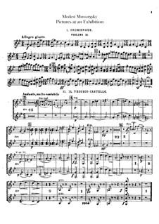 Vollständiger Zyklus: Für Orchester – Violinstimme II by Modest Mussorgski