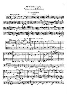 Vollständiger Zyklus: Für Orchester – Bratschenstimme by Modest Mussorgski