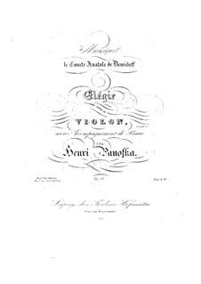 Elegie für Violine und Klavier, Op.17: Elegie für Violine und Klavier by Heinrich Panofka