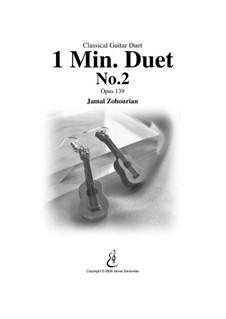 1 Min Duet No.2, Op.139: Für zwei Gitarren by Jamal Zohourian