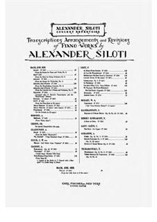 Partita für Violine Nr.2 in d-Moll, BWV 1004: Chaconne. Arrangement for piano by Johann Sebastian Bach