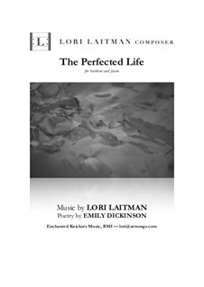The Perfected Life: For baritone and piano (priced for 2 copies) by Lori Laitman