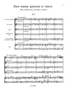 Deus noster refugium et virtus, RCT 13: Vollpartitur by Jean-Philippe Rameau