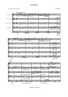 Humoresken, B.187 Op.101: No.7, for wind ensemble by Antonín Dvořák