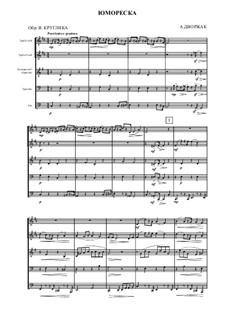 Humoresken, B.187 Op.101: No.7, for brass ensemble by Antonín Dvořák