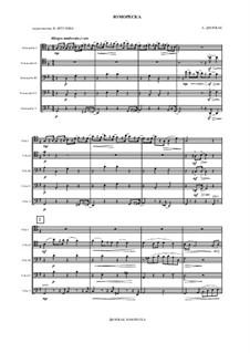 Humoresken, B.187 Op.101: No.7, for cello ensemble by Antonín Dvořák
