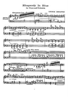 Rhapsody in Blue: Für Klavier by George Gershwin