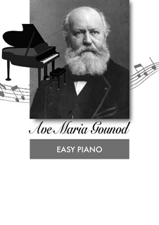 Ave Maria: Für Klavier, leicht by Johann Sebastian Bach, Charles Gounod