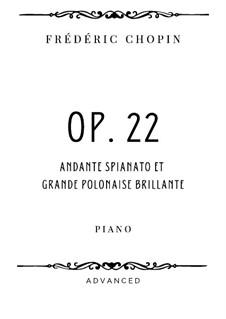 Andante spianato und Grosse brillante Polonäse, Op.22: Für Klavier by Frédéric Chopin