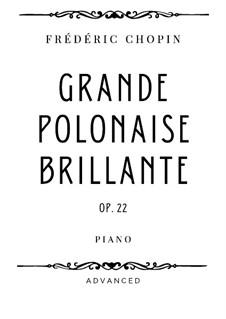Andante spianato und Grosse brillante Polonäse, Op.22: Grande Polonaise Brillante by Frédéric Chopin