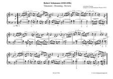 Nr.7 Träumerei: Für Klavier (erleichterte Version) by Robert Schumann