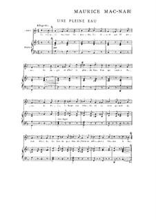 Heft I: No.11 Une pleine eau by Maurice Mac-Nab