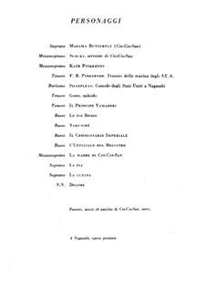 Madama Butterfly : Akt I by Giacomo Puccini