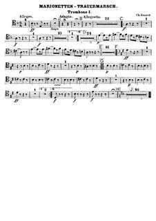 Trauermarsch einer Marionette: Posaunenstimmen by Charles Gounod
