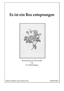 Es ist ein Ros entsprungen: Chor-SAB by Unknown (works before 1850)