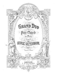 Grosses Duett für Cello (oder Bratsche) und Klavier, Op.25: Partitur by Georg Goltermann
