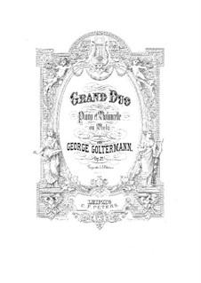 Grosses Duett für Cello (oder Bratsche) und Klavier, Op.25: Cellostimme by Georg Goltermann