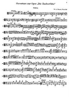 Ouvertüre: Bratschen-, Cello- und Kontrabassstimmen by Wolfgang Amadeus Mozart