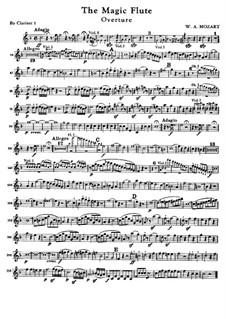Ouvertüre: Klarinettenstimmen by Wolfgang Amadeus Mozart