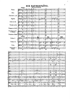 Ouvertüre: Vollpartitur by Wolfgang Amadeus Mozart