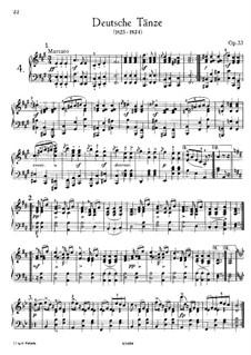 Sechzehn deutsche Tänze und zwei Ecossaises, D.783 Op.33: Vollsammlung by Franz Schubert
