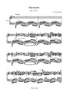 Zehn Präludien, Op.23: Prelude No.2 in B Flat Major by Sergei Rachmaninoff