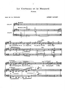 Trois fables de Jean de la Fontaine: Trois fables de Jean de la Fontaine by André Caplet