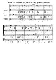 Accoueillie m'a la belle (Da pacerne Domine): Accoueillie m'a la belle (Da pacerne Domine) by Firminus Caron