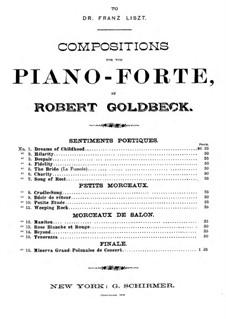 Sentiments Poetiques: Träume aus der Kindheit by Robert Goldbeck