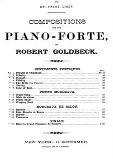 Sentiments Poetiques: Heiterkeit by Robert Goldbeck