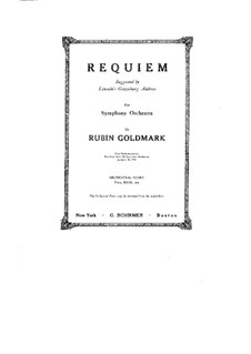 Requiem: Requiem by Rubin Goldmark