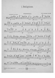 Sechs leichte Tonbilder für Cello und Klavier, Op.129: Solostimme by Georg Goltermann
