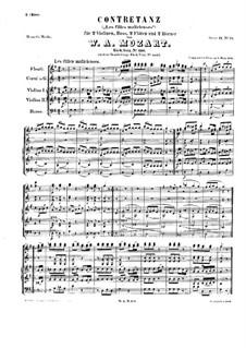 Kontratanz für Orchester in G-Dur 'Les filles malicieuses', K.610: Kontratanz für Orchester in G-Dur 'Les filles malicieuses' by Wolfgang Amadeus Mozart