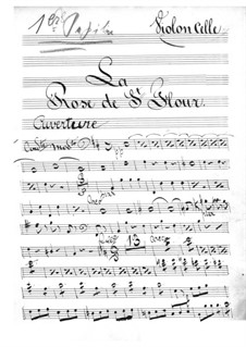 La rose de Saint-Flour: Cellosstimme by Jacques Offenbach