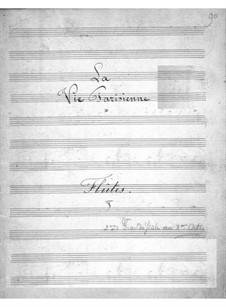 La vie parisienne (Pariser Leben): Flötenstimme by Jacques Offenbach