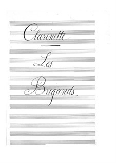 Les brigands (Die Banditen): Klarinettenstimme by Jacques Offenbach