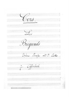 Les brigands (Die Banditen): Hörnerstimme by Jacques Offenbach