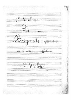 Les brigands (Die Banditen): Violinstimme I by Jacques Offenbach