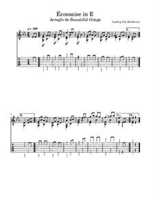 Écossaise in Es-Dur, WoO 86: Für Gitarre by Ludwig van Beethoven