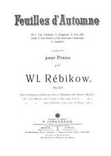 Herbstblätter: Partitur für Streichorchester by Wladimir Rebikow
