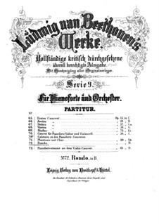 Rondo für Klavier und Orchester in B-Dur, WoO 6: Vollpartitur by Ludwig van Beethoven