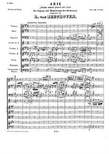 Arie 'Primo amore piacer del ciel', WoO 92: Arie 'Primo amore piacer del ciel' by Ludwig van Beethoven