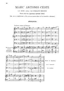 La Dori: Prolog, Akt I by Pietro Antonio Cesti